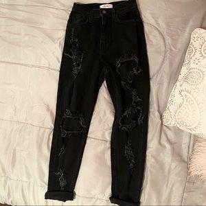 Ootd fash mom jeans